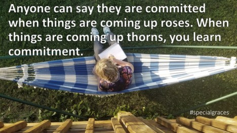 Anyone can say they are committed, but . . .