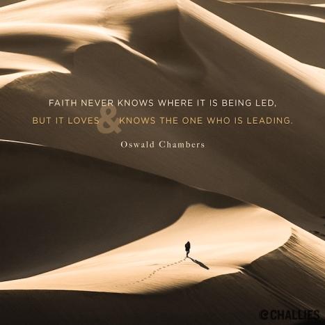 faith never knows