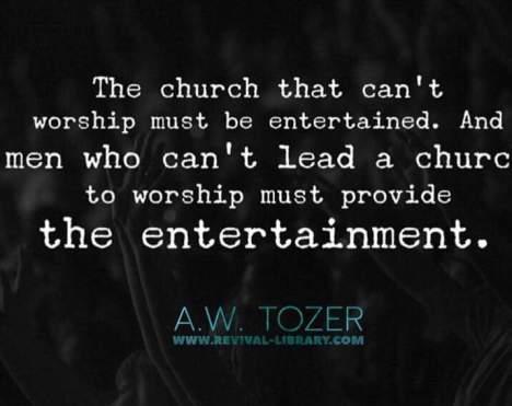 church-entertained