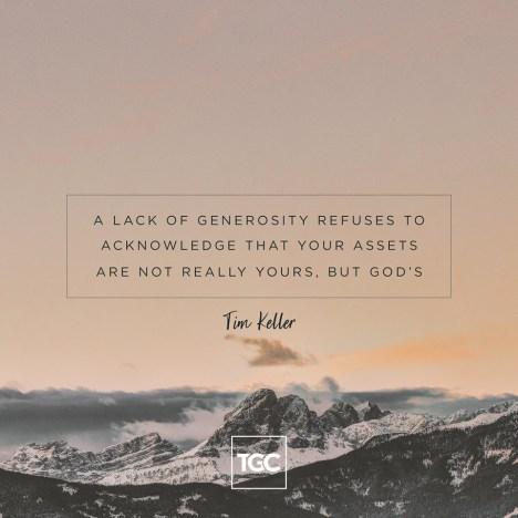 Lack of generosity